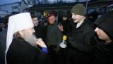 Українські націоналісти заблокували Києво-Печерську лавру